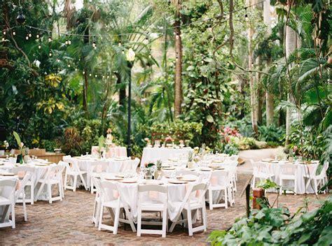 Outdoor Tropical Garden Wedding Reception Decor Round