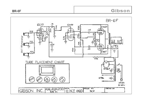 Gibson B Wiring Diagram by Gibson Br 6f Schematic Service Manual Schematics