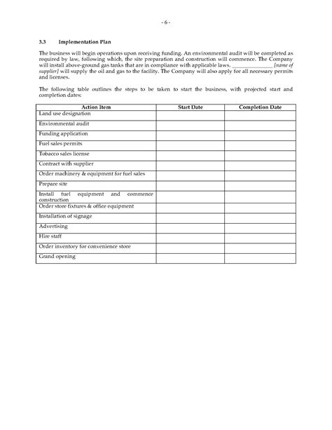 Petrol Station Business Plan Template by Gas Station Business Plan Forms And Business