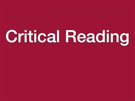 Lesson 9  Critical Reading Youtube