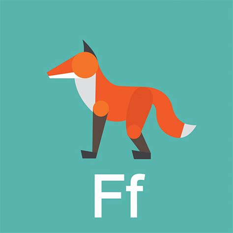 geometric animal alphabet  behance