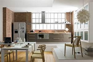 exemple de cuisine ouverte sur salon With exemple de cuisine ouverte
