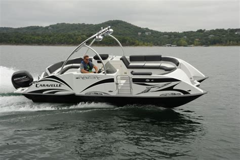 Caravelle Boats Review by Caravelle Razor 237 Uu Pontoon Deck Boat Magazine