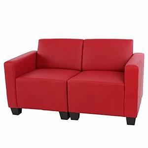 Kunstleder Sofa 2 Sitzer : modular 2 sitzer sofa couch lyon kunstleder rot m bel24 ~ Bigdaddyawards.com Haus und Dekorationen