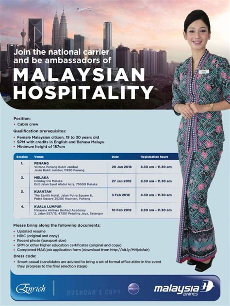 airlines recruiting cabin crew fly gosh malaysia airlines cabin crew recruitment walk