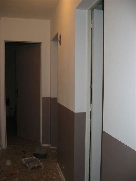 comment peindre une chambre en 2 couleurs les débuts du couloir petites babioles