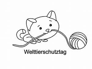 Katze Und Knuel Ausmalbild Zum Drucken Und Ausmalen