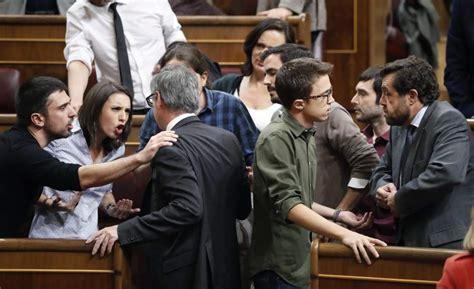 enfrentamiento entre ciudadanos  podemos en el congreso