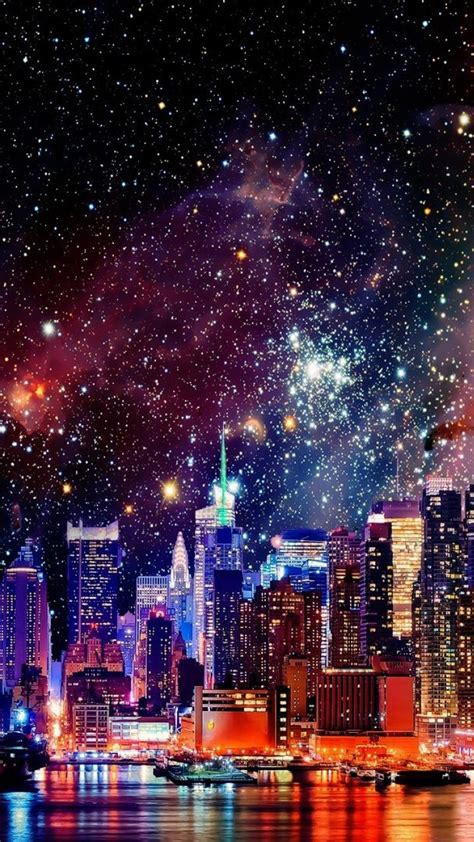 outer space galaxies  york city cities wallpaper