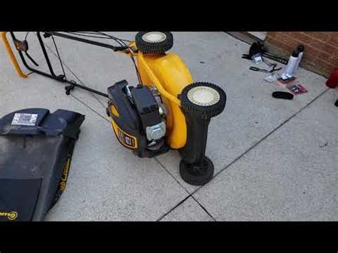 Push Mower Fuel Filter cub cadet mower maintenance change spark