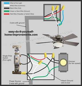 Ceiling Fan Instructions Wiring