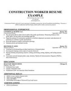 construction resume exles exle resume 28 images 21