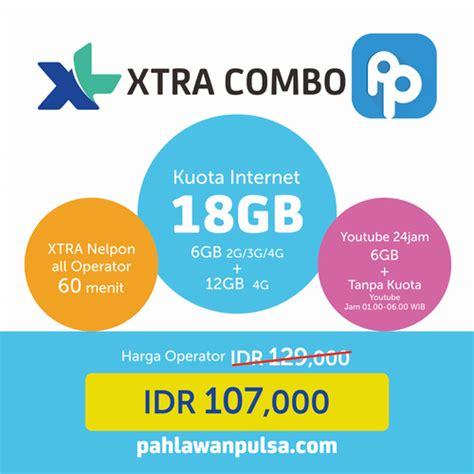 Namun paket ini cocok untuk anda yang hanya membutuhkan kuota internet. Paket Internet dan Kuota XL Xtra Combo 18GB Murah di pahlawanpulsa.com   Youtube, Internet