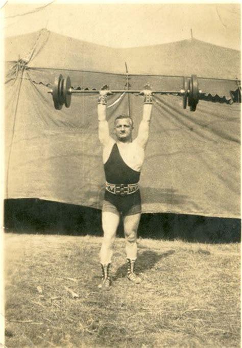 strong man joe lambert  miller bros show  circus