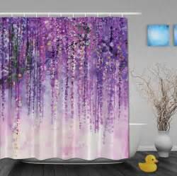 Kids Shower Curtain Hooks by Aliexpress Com Buy Custom Watercolor Drawing Purple