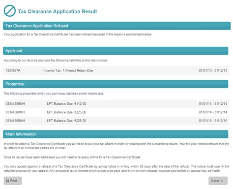 The tax clearance certificate is usually for the 3 years preceding your application. Apply for tax clearance online using eTax Clearance (eTC)