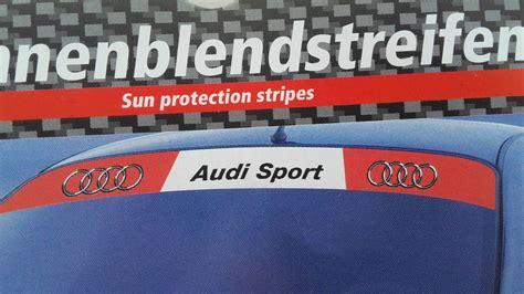 audi sport aufkleber audi sport auto aufkleber f 252 r die frontscheibe 135 x