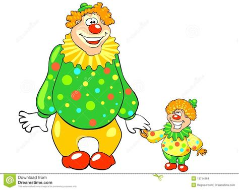 Funny Big And Little Clown Stock Vector  Image 19714164