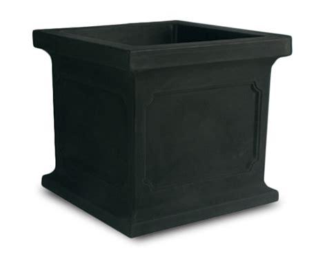 Black Square Planter Box by Crescent Garden Estate Square Planters