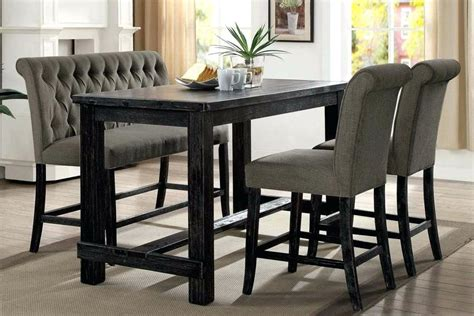 counter height kitchen table with bench wood dining table set with bench furniture iii counter