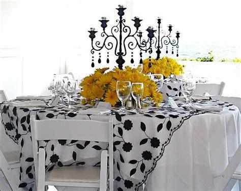 yellow black candelabra and black on