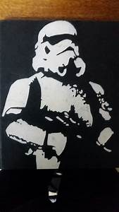 Stormtrooper stencil | Portfolio | Spray paint art, Star ...