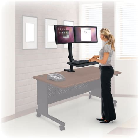 stand up desk price up rite rear mount desk mounted sit stand workstation