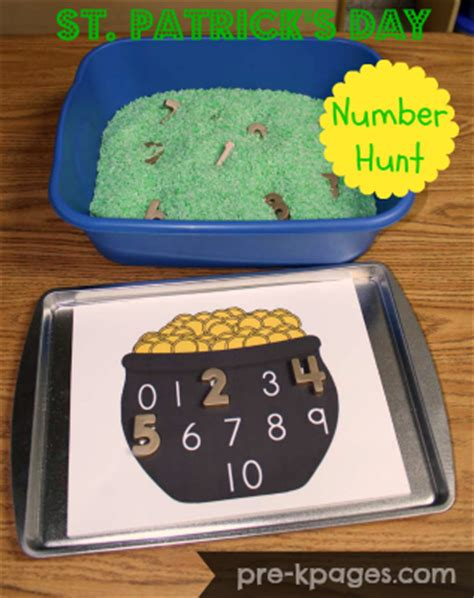 st s day math activities 718 | hunting for gold numbers activity