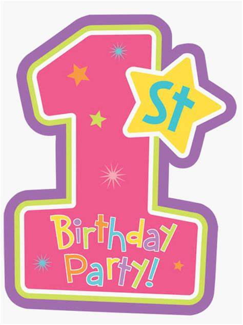 In addition, all trademarks and usage rights belong to the related institution. 1st Birthday Vector Png - Free Transparent PNG Download ...