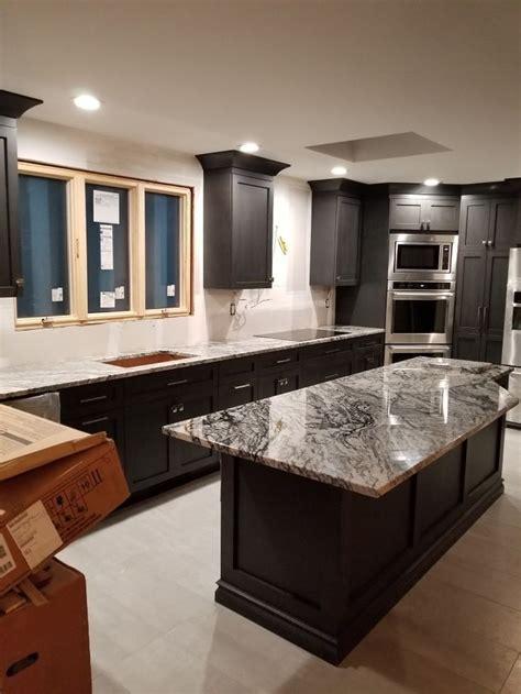 modern kitchen reno white granite countertops granite