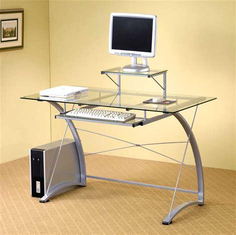 glass top desks contemporary computer desks for home office