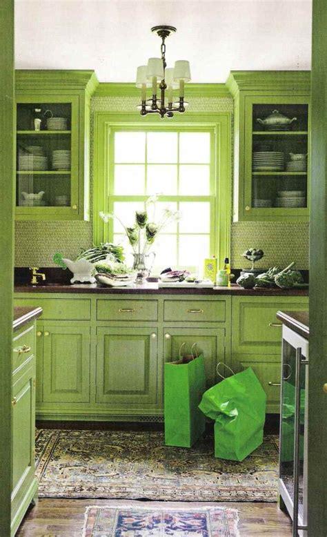 cuisine verte decoration cuisine couleur verte