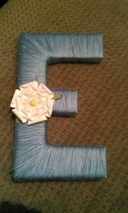 wooden letter wrapped in yarn and flower attached easy With cheap letters for crafts