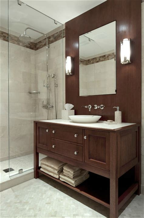 brown bathroom vanity contemporary bathroom carole