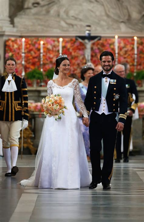 princess sofia  sweden wedding dress popsugar fashion