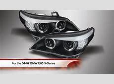0407 BMW E60 5Series Projector Headlights YouTube
