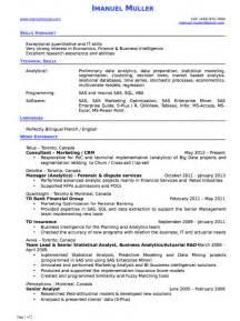 intelligence analyst resume skills business intelligence analyst resume exle free resume sle