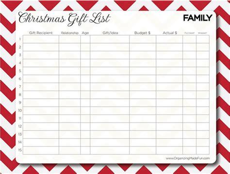 27+ Christmas Gift List Templates - Free Printable Word