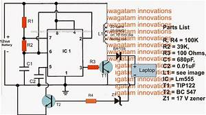 Car Laptop Charger Circuit Using Boost Converter