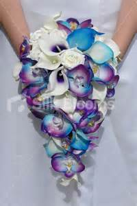 royal blue corsage and boutonniere shop galaxy blue orchid calla tropical wedding
