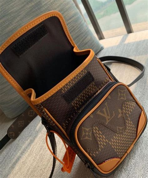 louis vuitton nano amazone messenger  brown
