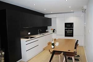 Decoration cuisine blanche et noir for Cuisine noir et blanche