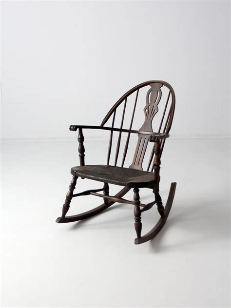 vintage banana rocking chair antique rocking chair with seat 86 vintage