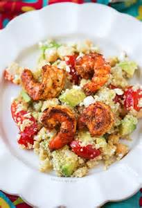 Spicy Grilled Shrimp Salad with Quinoa