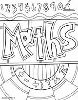Coloring Pages Subject Title Math Binder Notebook Books Covers Classroom Project Subjects Class Notebooks Maths Printable Classroomdoodles Colouring Doodles Doodle sketch template