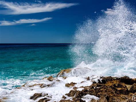 Sea Coast Sea Stones Waves Costa Rica Mexico Desktop