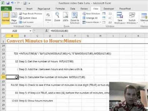5 minutes to ms how to get minutes in excel excel video 192 convert