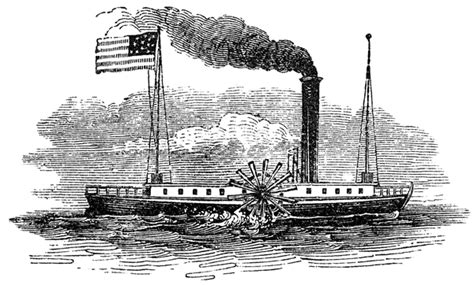 Barco A Vapor Clermont by Fulton Steamboat