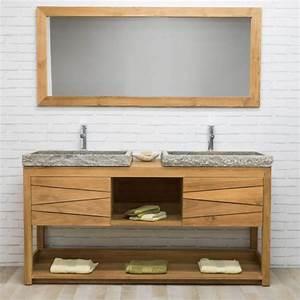 Meuble Sous Vasque Industriel : photo de meuble sous vasque meuble double vasque ~ Teatrodelosmanantiales.com Idées de Décoration