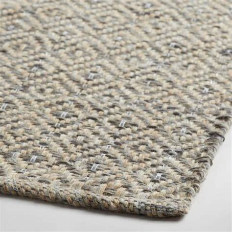 world market jute rug gray metallic woven jute alden area rug world market